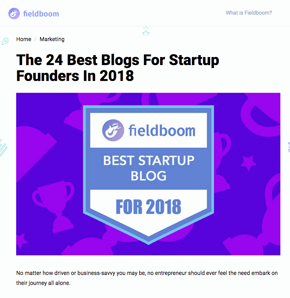 #ADMP: TOP25 BEST STARTUP BLOG by #FIELDBOOM (USA)