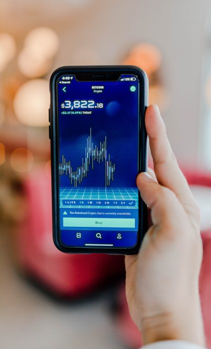 Bitcoin trends on smartphone